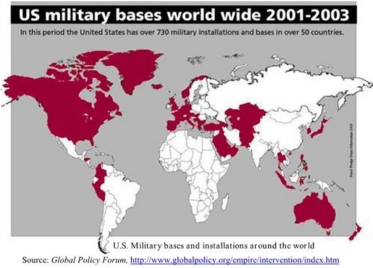 U.S. Military bases and installations around the world