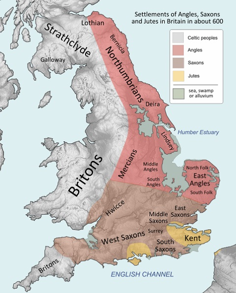Britain peoples and Anglo-saxsons