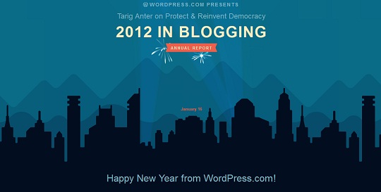 2012 year in blogging