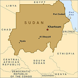 The Sudan map