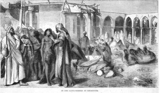 سوق الرق في الخرطوم عام 1878