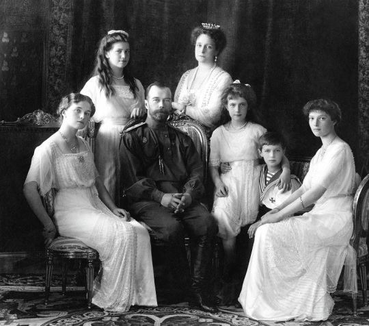 The massacred Tsar Nicholas II family